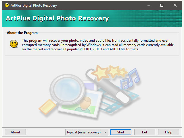 Art Plus Digital Photo Recovery Screen shot