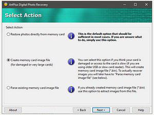 Licencia para art plus digital photo recovery Art Plus Digital Photo Recovery - Descargar